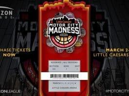 2018 Motor City Madness logo UofD Mercy