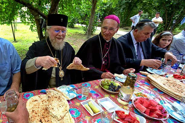 Coexistence, different faiths dine together