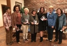 Some of 'The 35's' at Myrtle Sitiwitz home with docufilm producer-Anat Zalmanson-Kuznetsov, on February 1, 2018