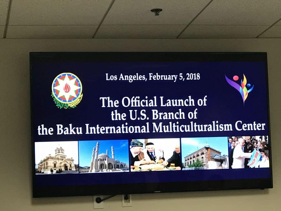 February 5, 2018-Opening the USA Branch of the Baku International Multiculturalism Centre