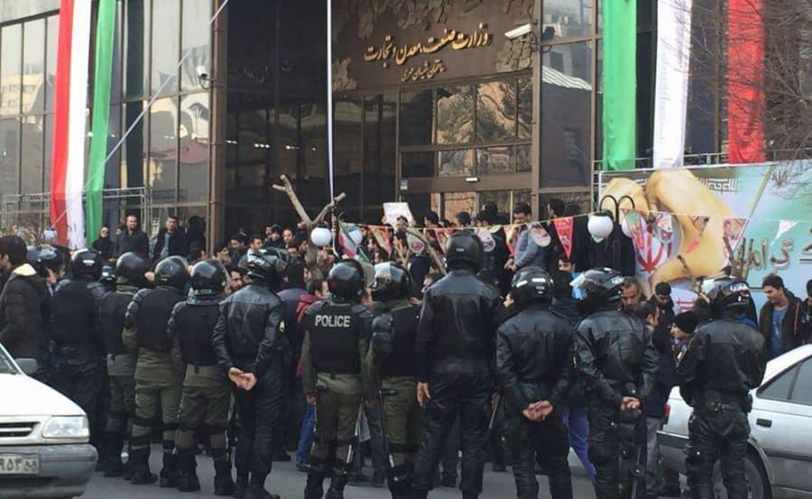 iranians protest iran regime.