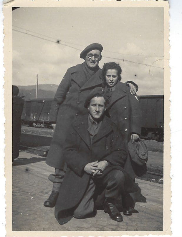 March 1946, to be my father and to be my mother and a friend (standing on left) after WWII in Czechoslovakia