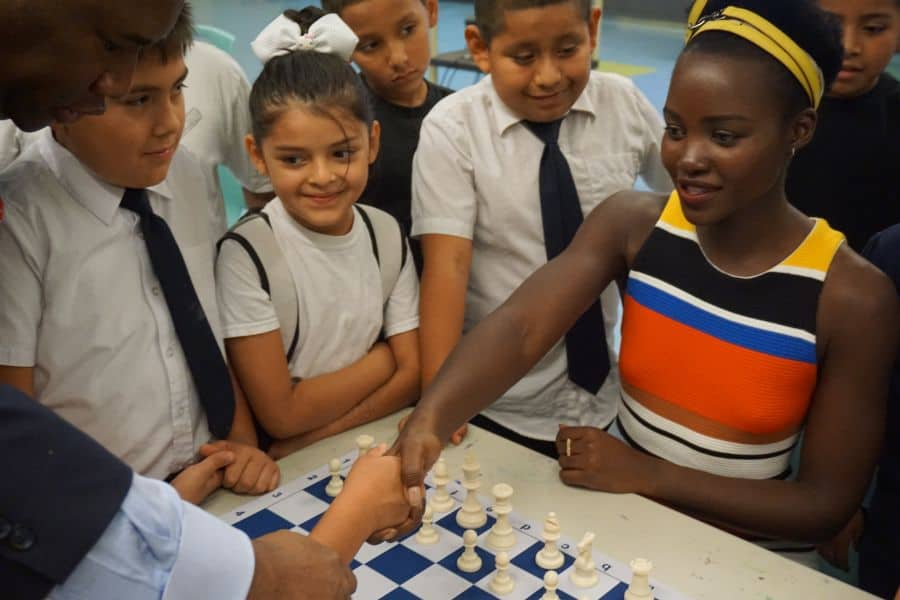 "Black Panther Star Lupita Nyong'o and Orrin ""Checkmate"" Hudson Help Kids 2"