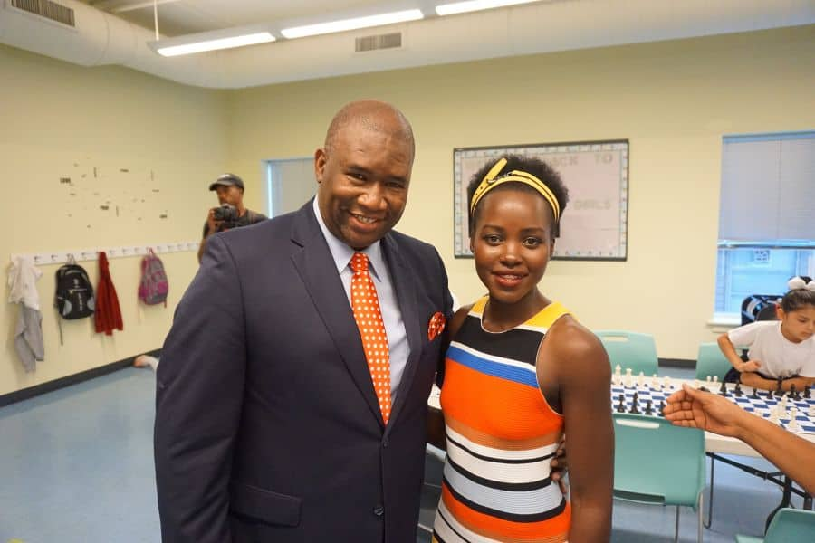 "Black Panther Star Lupita Nyong'o and Orrin ""Checkmate"" Hudson Help Kids 1"