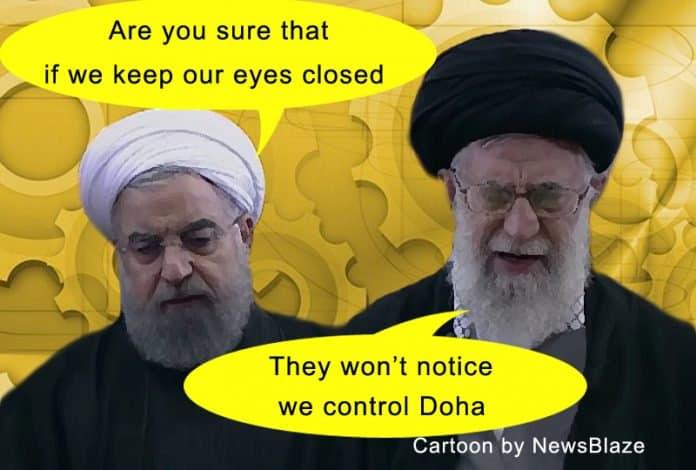 iran and qatar.
