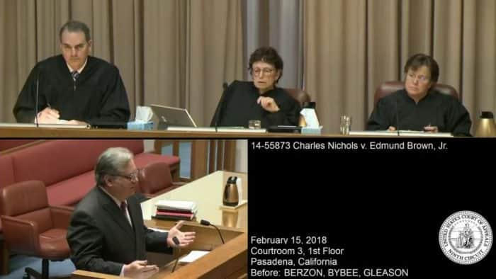 Charles Nichols arguing his California Open Carry case before the 9th circuit court of appeals