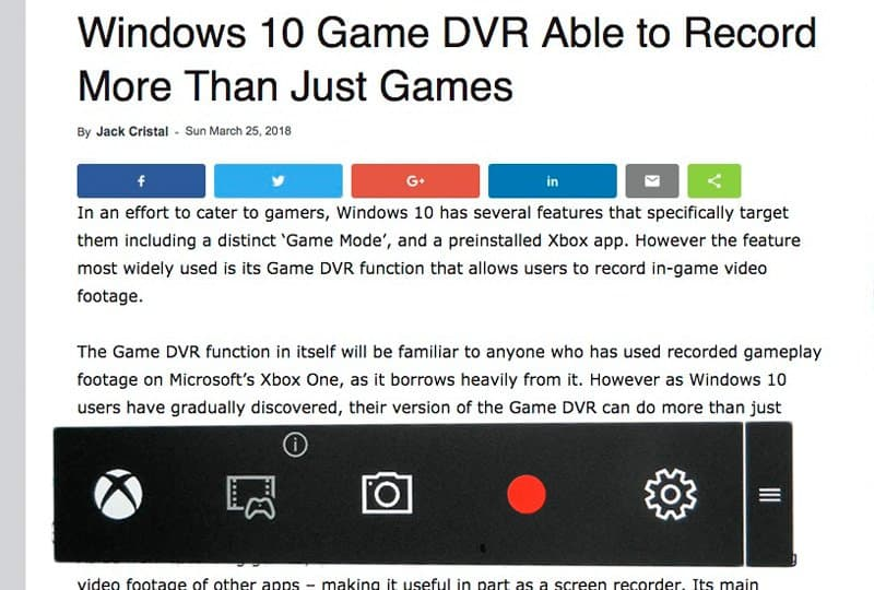 windows game dvr control.