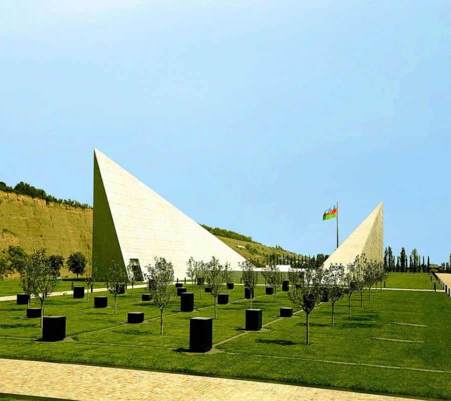 Goba, Azerbaijan 'Genocide Memorial Complex' to honor the victims of the March 1918 Genocide. In the complex the site of the Genocide victims' mass grave, unearthed there in 2007