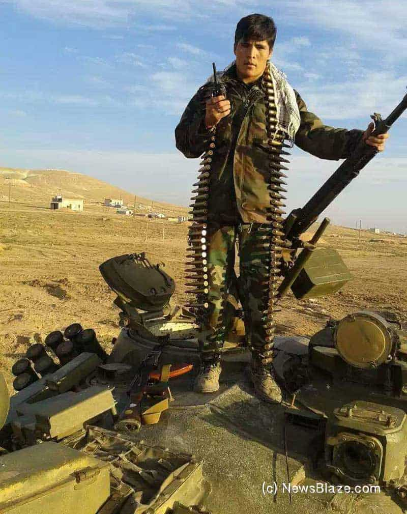 gunner sarvar. forced to fight in syria