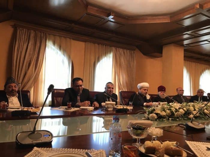 L-Salman Musayev, Mr. Milikh Yevdayev Sheikh-ul-Islam Allahshukur Pashazada, Alexander, Archbishop of Baku, Vladimir Fekete, and Robert Mobili