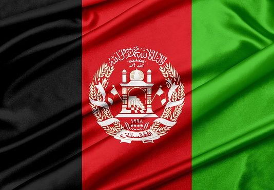 National flag of Afghanistan.