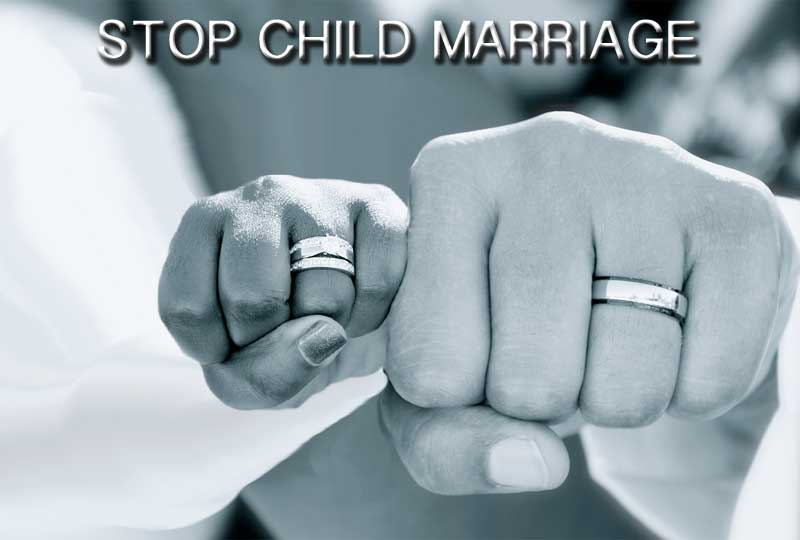 stop child marriage.