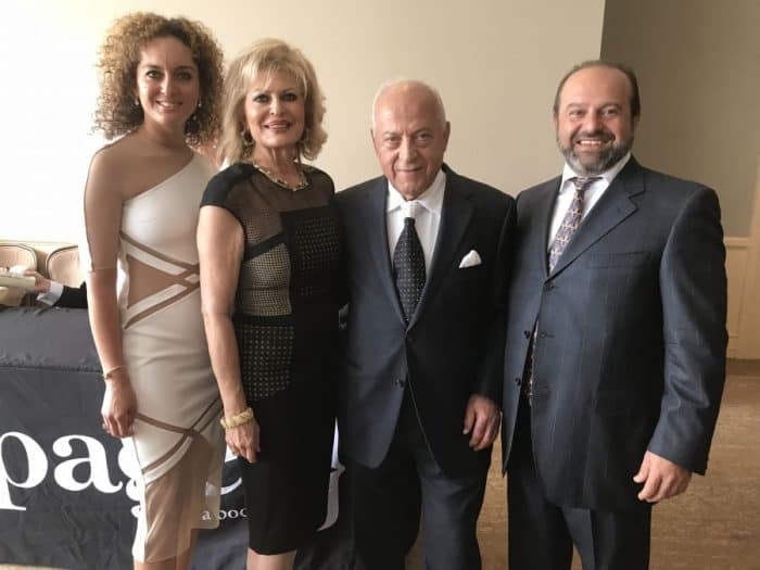 Center-Isaac and Jacqueline Moradi with son Alex-R and L-daughter Natasha