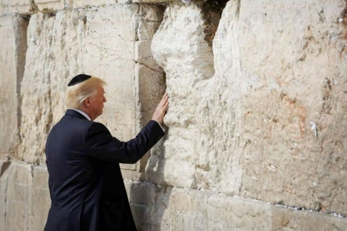 President Donald Trump at the Western Wall
