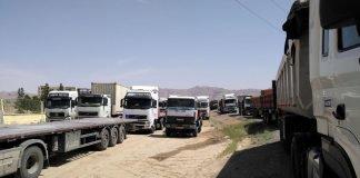trucks in iran, may 2018.