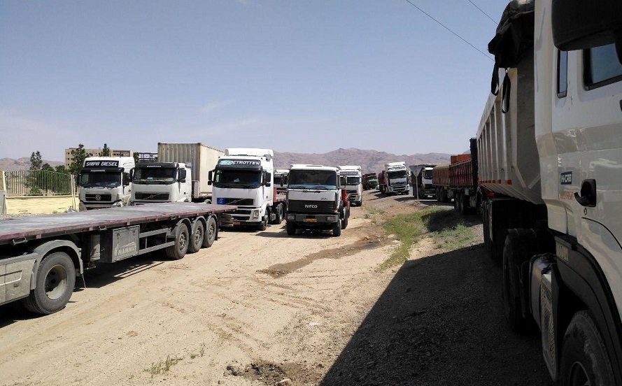 nationwide strike of truckers in iran, may 2018.