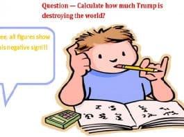 Trump damage question cartoon