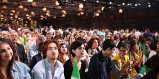 Iranian gathering as the people call for Regime Change in Iran.