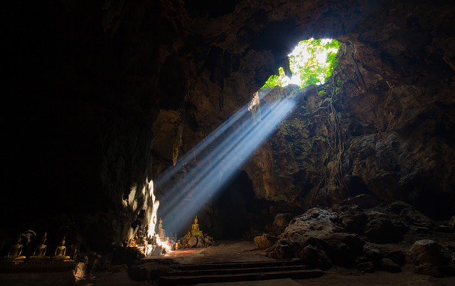 A cave in Thailand.