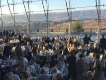Dinner at the library with Simi Valley in the background-photo Nurit Greenger