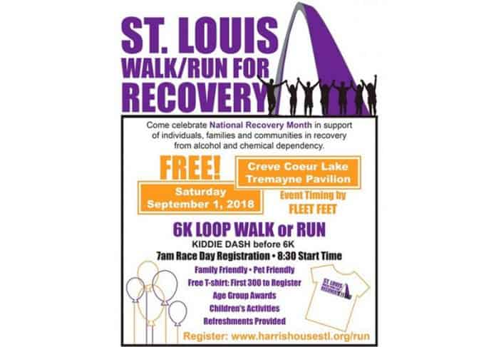 harris house supports st louis walk run for recovery.