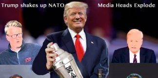 trump shakes up nato, and media heads explode.