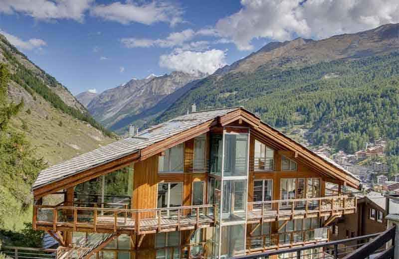 verbier luxury penthouse chalet view.