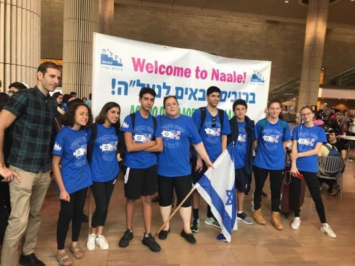 Na'aleh new students' group, September 2017, arrive in Ben Gurion airport, Israel