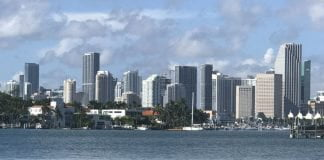 View from Miami Beach to downtown Miami - Photo credit Nurit Greenger