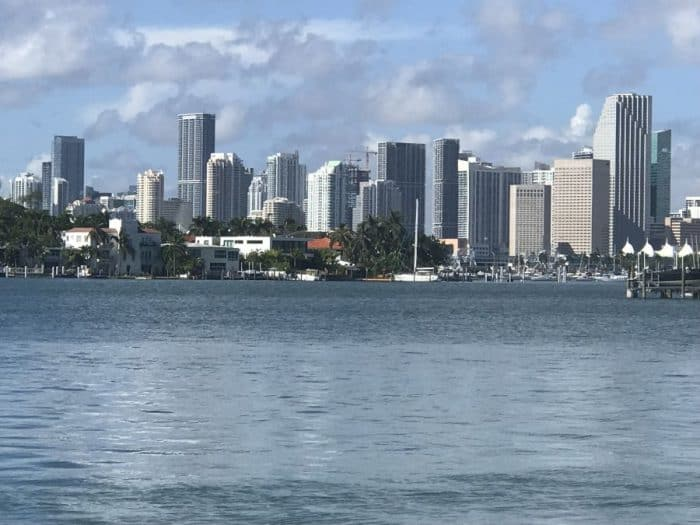 View from Miami Beach to downtown Miami-Photo credit Nurit Greenger