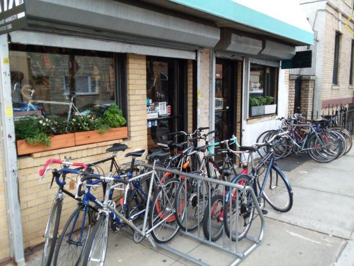bikes ready outside joyride bikes.