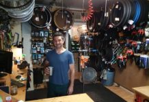 josh in the joyride bikes shop.