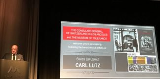 Carl Lutz event -Swiss Consul General[ opens the evening