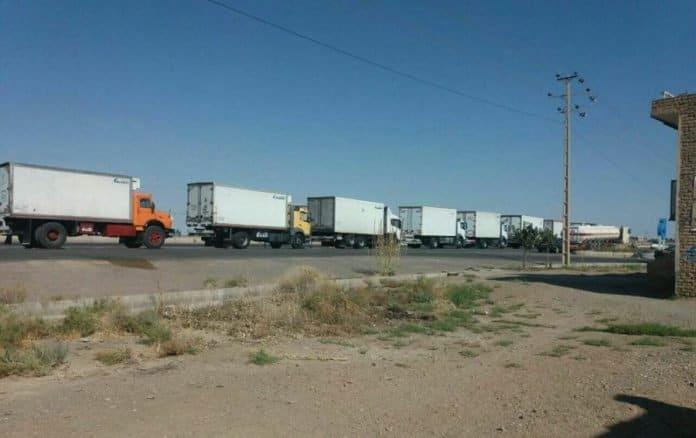 iran truckers on strike.