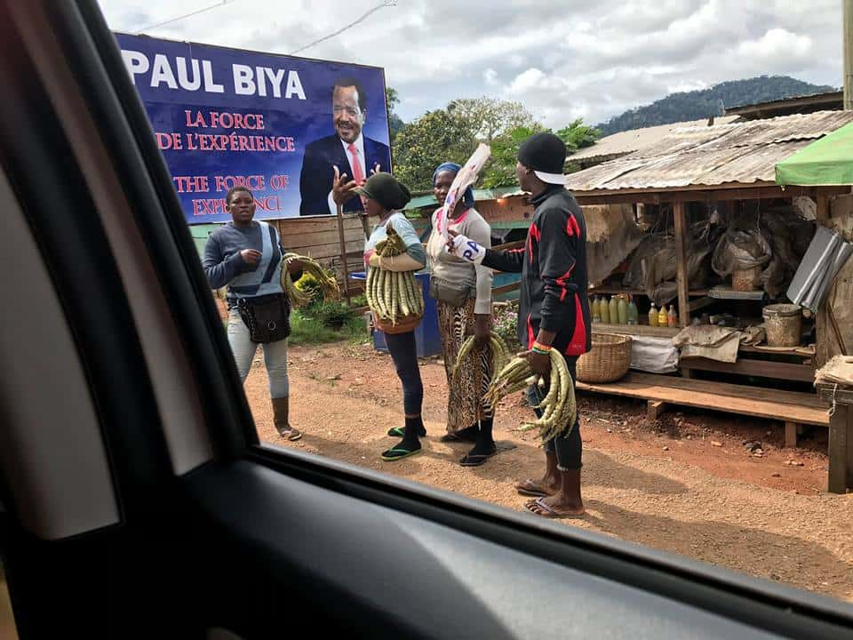 President Paul Biya billboard
