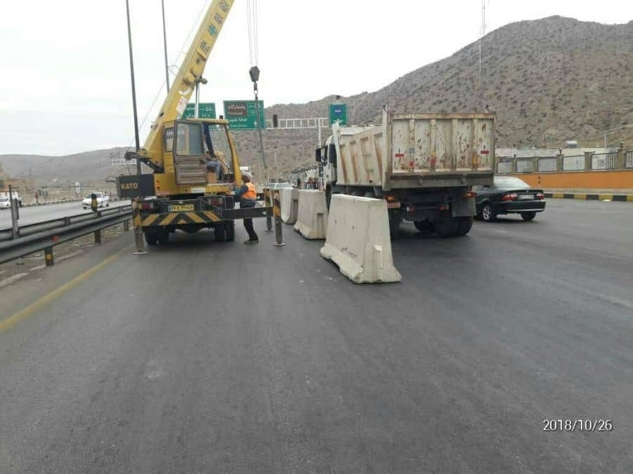 security forces close pasargad highway.