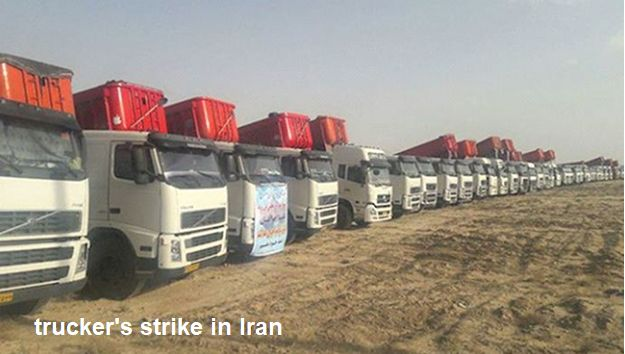truckers strike iran.