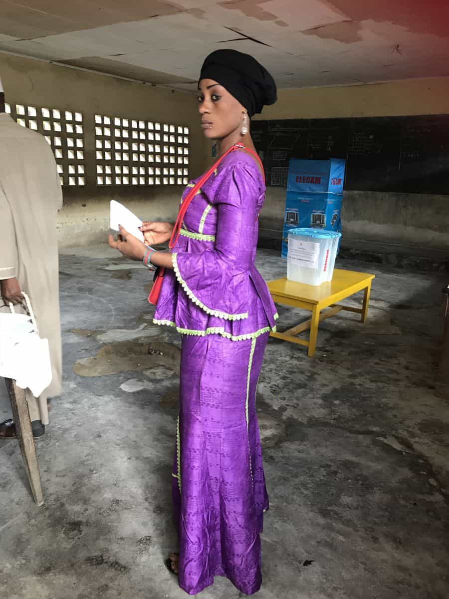 Cameroonian voter