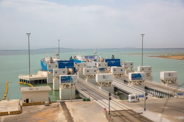 Port of Baku loading zone