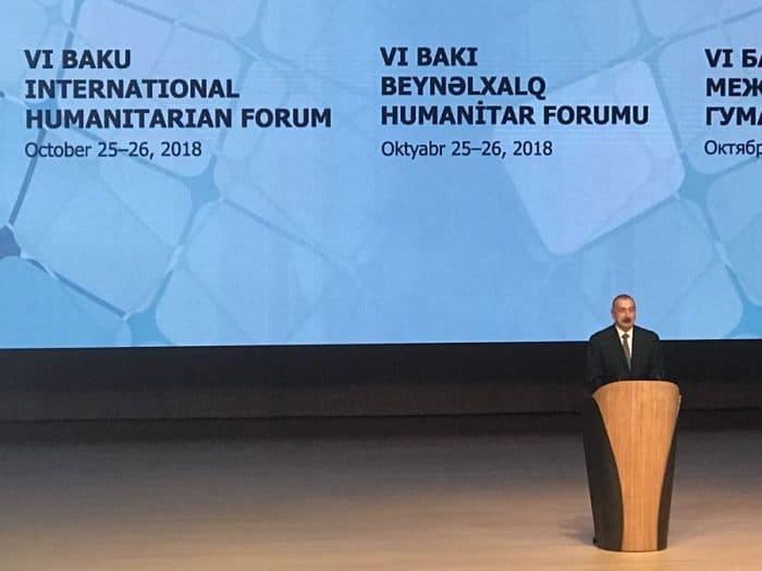 Ilham Aliyev, Republic of Azerbaijan President opens the Forum