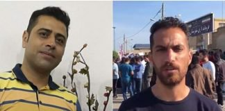 esmaeel bakhshi and moslem armand, two men detained for protesting lack of pay.