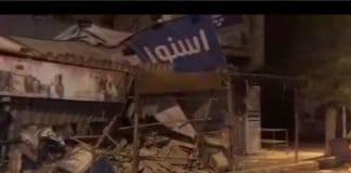 iran quake damage.