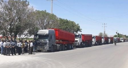 iran truckers strike - round 4