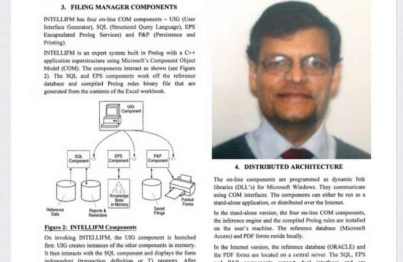 Krishna C. Mukherjee and INTELLIFM.