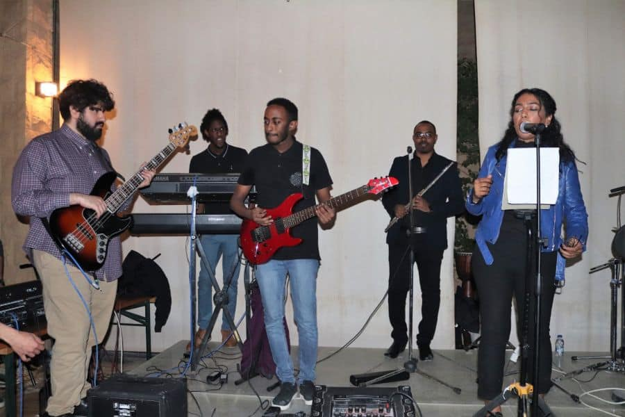 saudi musicians at open stage night