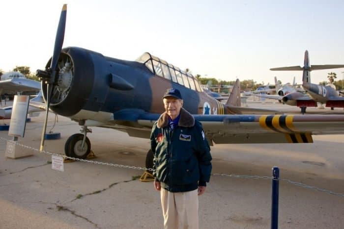 Mitchell Flint, 1948 volunteer to IAF, by IAF Texan Harvard