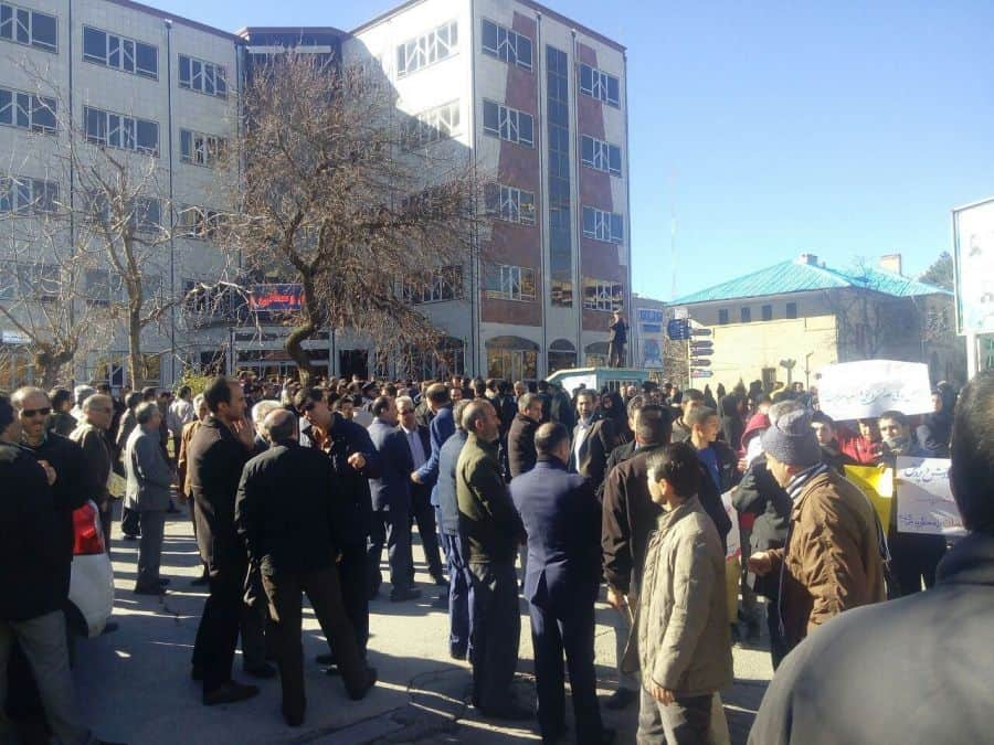 hamadan iran educators protest the hollow promises of government authorities