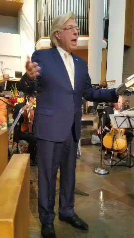 Pete Allman introducing opera, spirituals and a concerto.