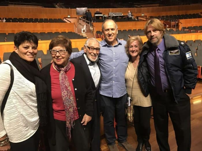 Aliza daughter, Myra, wife, Smoky, Eran Ramot, me, the writer and Mike Flint at the IAF Association event