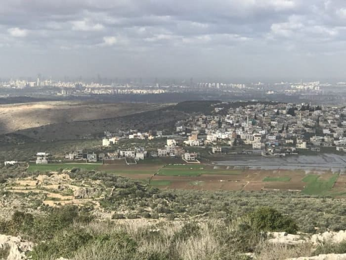 Peduel - The country's terrace - you can see the sea shore cities and an Arab village a short distance below the vista in shomron.